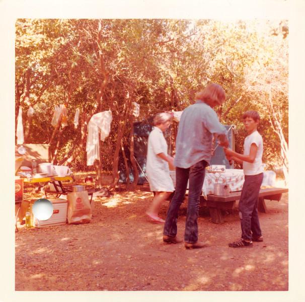 Camping at Lake Mendocino, June 1971