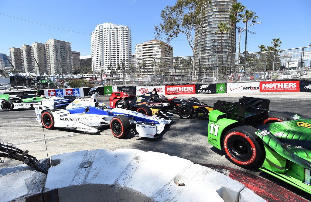 . Hair pin turn,  during the 41st Annual Toyota Grand Prix of Long Beach.  Long Beach  Calif., Sunday,  April,19, 2015.     (Photo by Stephen Carr / Daily Breeze)