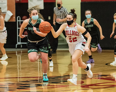2021 Girls Varsity Basketball:  Hall-Dale vs Spruce Mtn