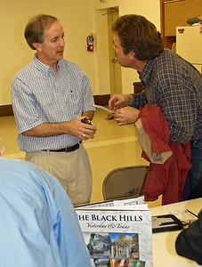 Those persons who'd previously enjoyed Paul's presentations knew that it would be chock full of intriguing information, and they weren't disappointed!  It's always a bonus for attendees to have an opportunity to chat with the presenters following the meeting, just as this gent is doing with Paul after his January talk.