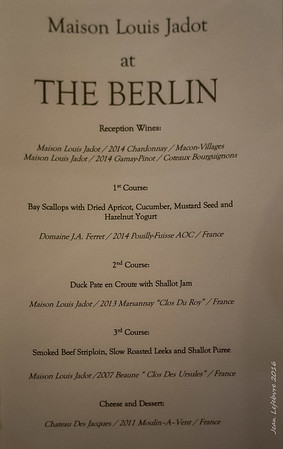 "Louis Jadot night at ""The Berlin"""