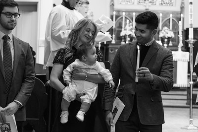 Alex's baptism in BW