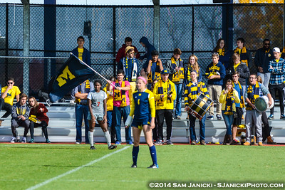 2nd Half from UM Women's Soccer Vs Ohio State 10-19-14