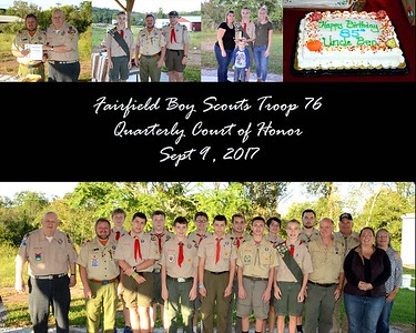 Scouts Troop 76 Meeting Sept 2017