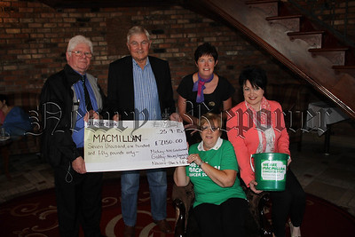 COFFEE MORNING PROCEEDS PRESENTED TO MACMILLAN CANCER SUPPORT