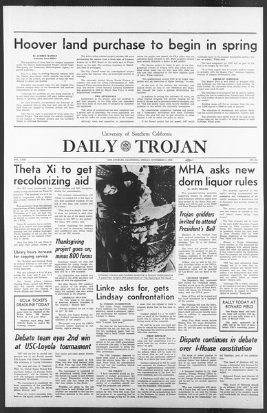 Daily Trojan, Vol. 58, No. 34, November 04, 1966