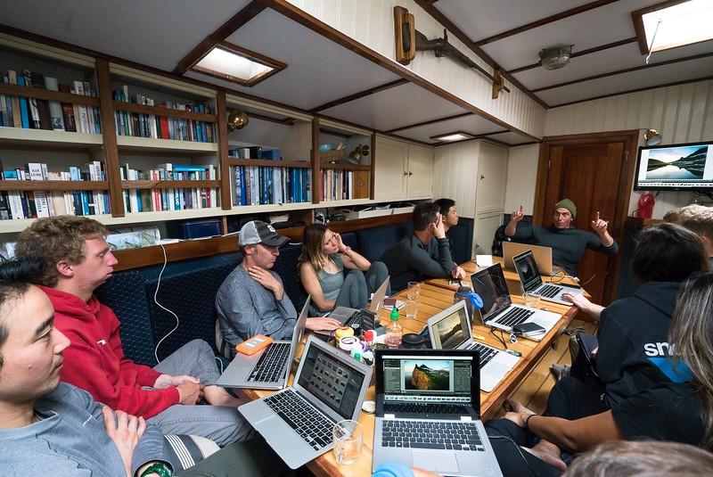Photo workshop with Chris Burkard onboard Arktika, in June 2016