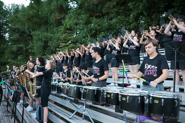 2021-08-27 Marching Band at Football Game Night