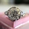 2.23ct Old European Cut Diamond Edwardian Solitaire GIA I VS1 4