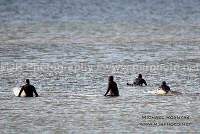 Surfing, Gilgo Beach, NY,  12.24.11