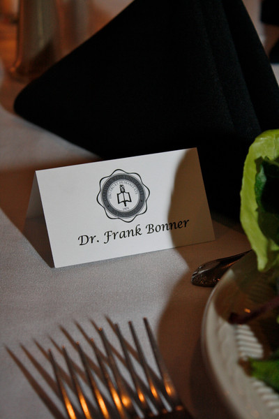Dr. Frank Bonner's place was reserved, whom was unable to come to the dinner