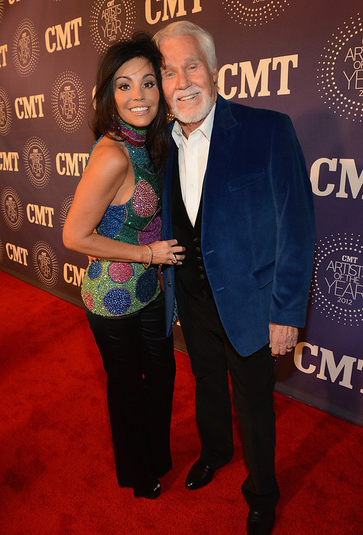 . Wanda Rogers and Kenny Rogers attend 2012 CMT Artists Of The Year at The Factory at Franklin on December 3, 2012 in Franklin, Tennessee.  (Photo by Rick Diamond/Getty Images for CMT)