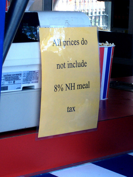 Canobie no longer includes meals tax in concessions prices. That's equivalent to an 8% price increase compared to last year.