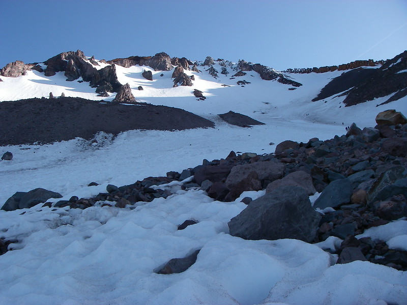 Avalanche Gulch is the least difficult and most popular route