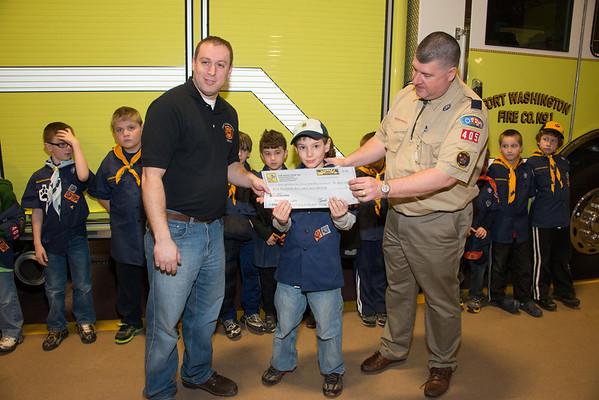 Cub Scout Tour and Check Presentation