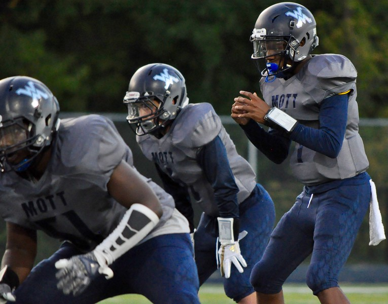 Waterford Mott hosted Walled Lake Central for a Lakes Valley Conference football game on Friday, Sep. 8, 2017. (Photo gallery by Dan Fenner/The Oakland Press)
