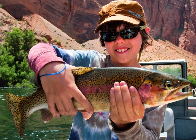 Troy Gunn with Lees Ferry rainbow trout..jpg
