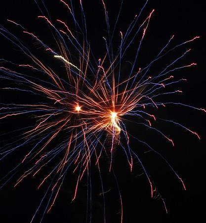 Fireworks Show, Men of Marian Picnic, Marian High School, Hometown (7-27-2014)
