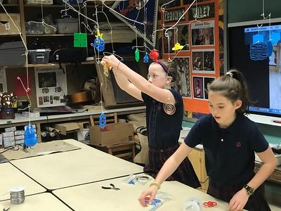 5th Grade - Calder-inspired 3D Printed Mobiles
