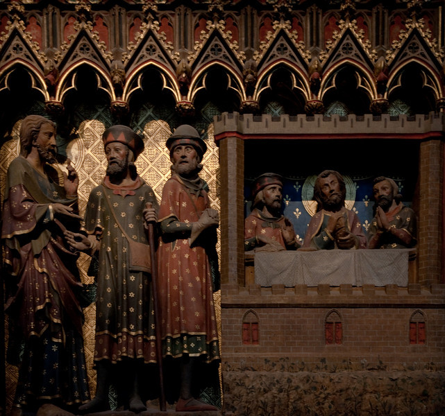 Paris, Notre-Dame Cathedral, Choir Screen, The Supper at Emmaus