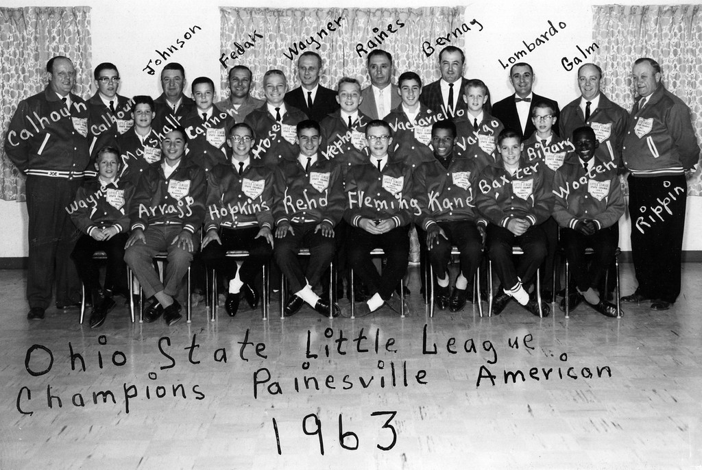. The 1963 Painesville American League All-Star team is honored at the Painesville VFW after winning the Little League state title that year. (Courtesy Ron Lombardo)