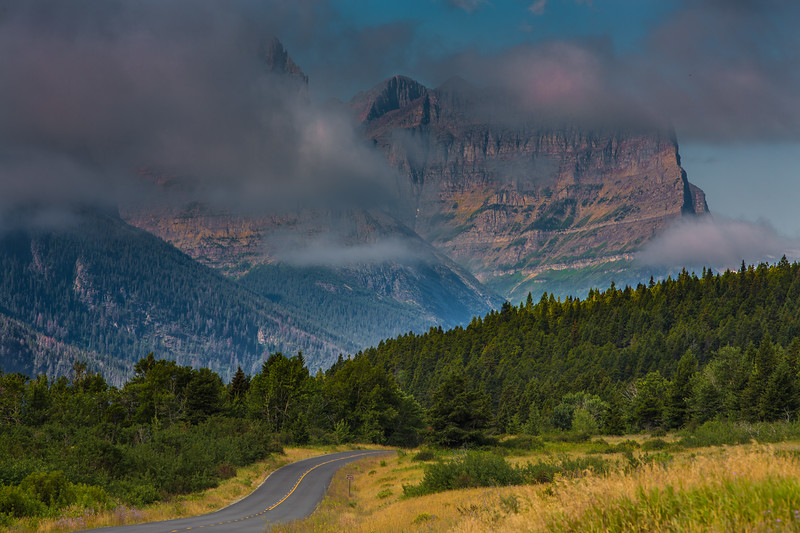 Winding Road Morning Mist