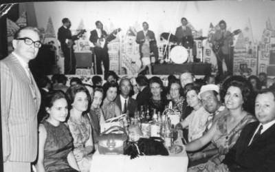 Carnaval 1968  Casal Maldonados, casal Valentes e avó Valente, casal Mendonça e Janeca, casal Amaral, casal Dr. Pedro Alves