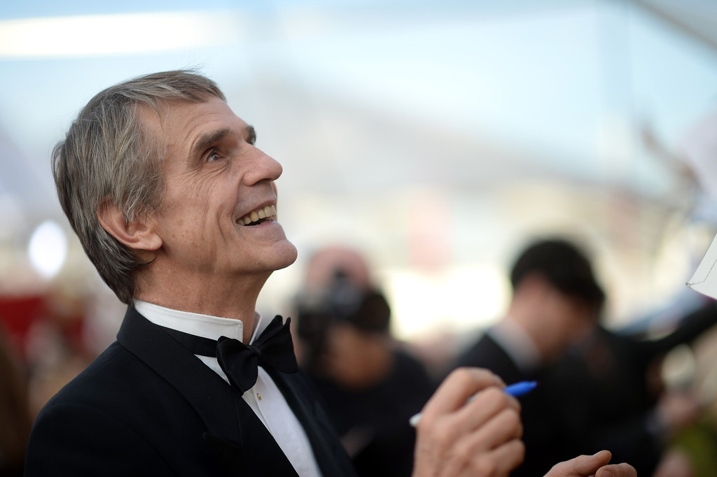 . Jeremy Irons signs autographs on the red carpet at the 20th Annual Screen Actors Guild Awards  at the Shrine Auditorium in Los Angeles, California on Saturday January 18, 2014 (Photo by Hans Gutknecht / Los Angeles Daily News)