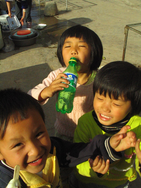 Obnoxious local children.