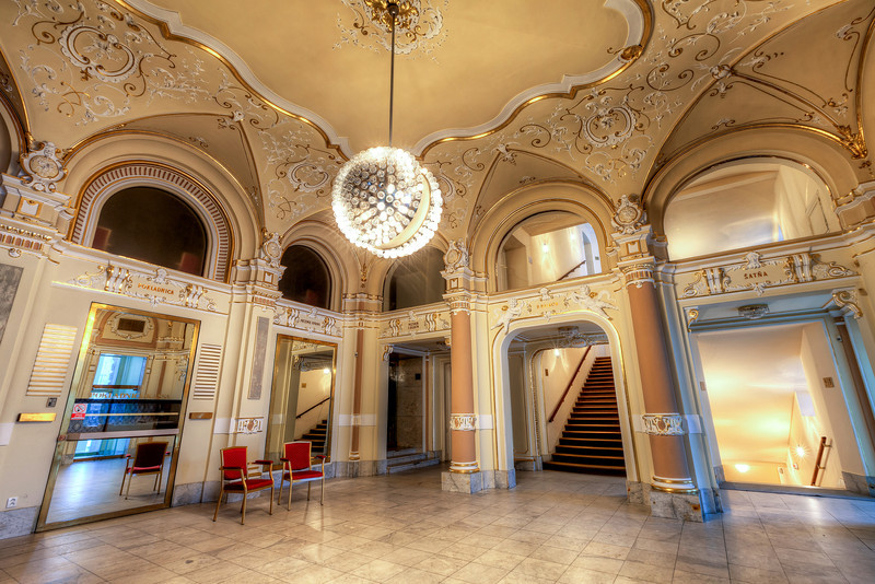 Entrance hall This is the entrance hall to the Slovak National Theater (the old building)