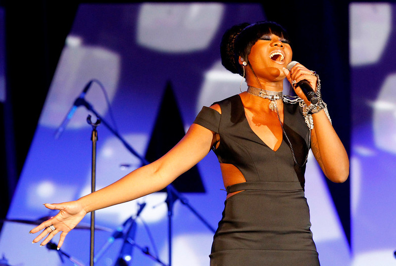 . Priscilla Renea performs at the 30th annual ASCAP Pop Music Awards in Hollywood, California April 17, 2013.  REUTERS/Mario Anzuoni