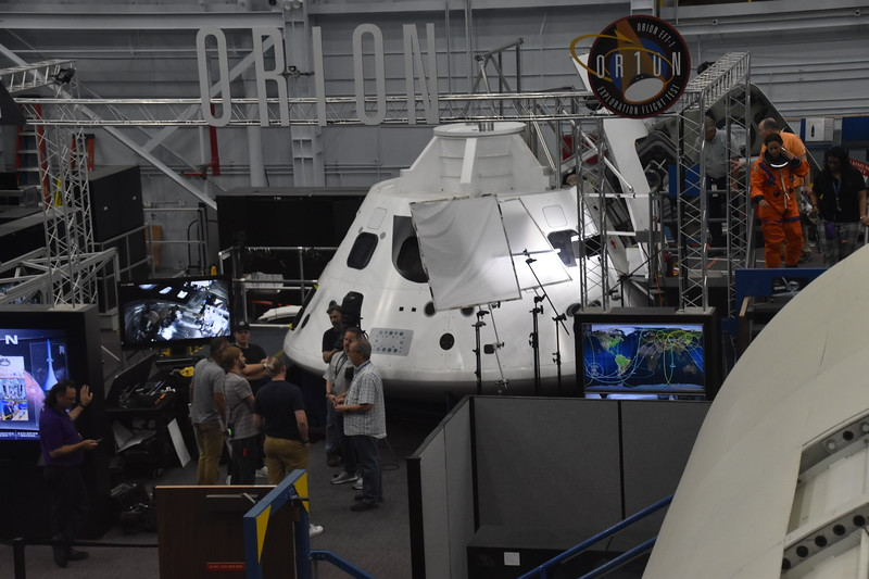 Mockup of Orion space capsule