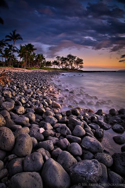 Sunset on Polo Beach in Wailea, Maui
