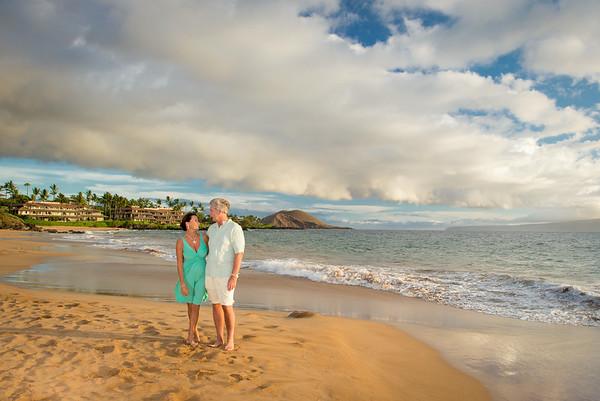 Mary & Rusty, Po'olenalena Beach, 070314