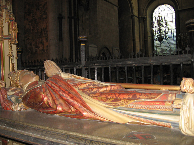 Tomb of Archbishop Morton (1486-1500), Canterbury Cathedral. He was Chancellor to Henry VII and mentor to young Thomas More