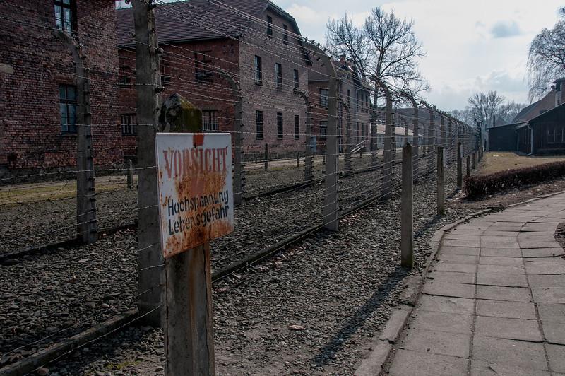 Site of Auschwitz Birkenau concentration camp in Krakow, Poland