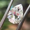 2.01ct Antique Pear Shape Diamond GIA G VS1 38