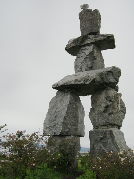 Oct. 19/13 - Art installation near Seaside Bicycle Route (Title: Inukshuk)