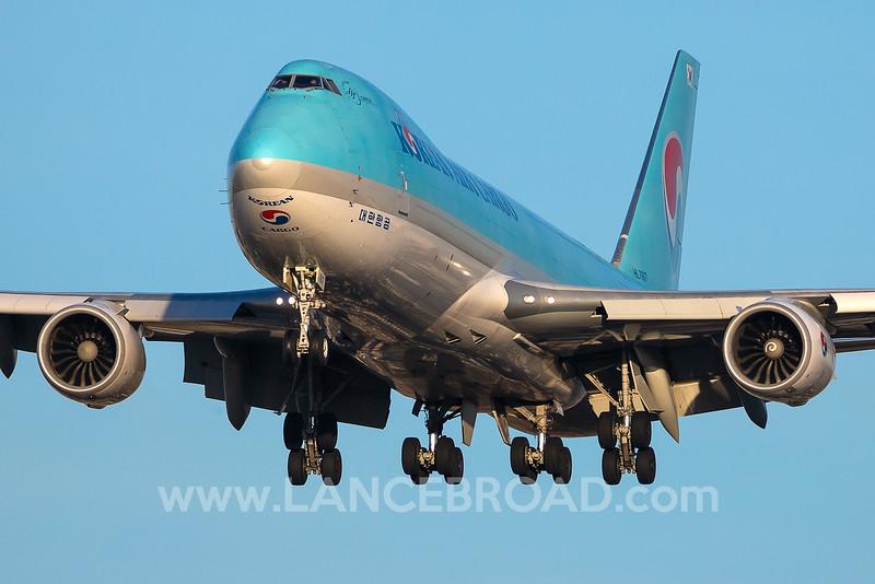 Korean Air Cargo 747-8F - HL7617 - LAX