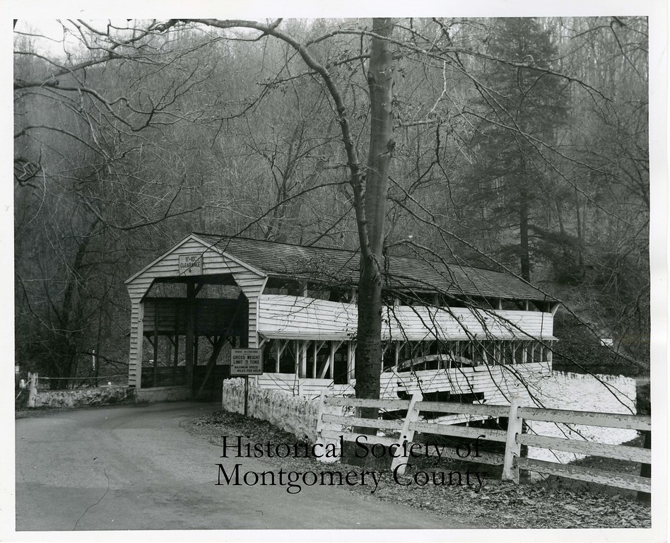 . The covered bridge in Valley Forge Park is seen in this undated photo. (Historical Society of Montgomery County)