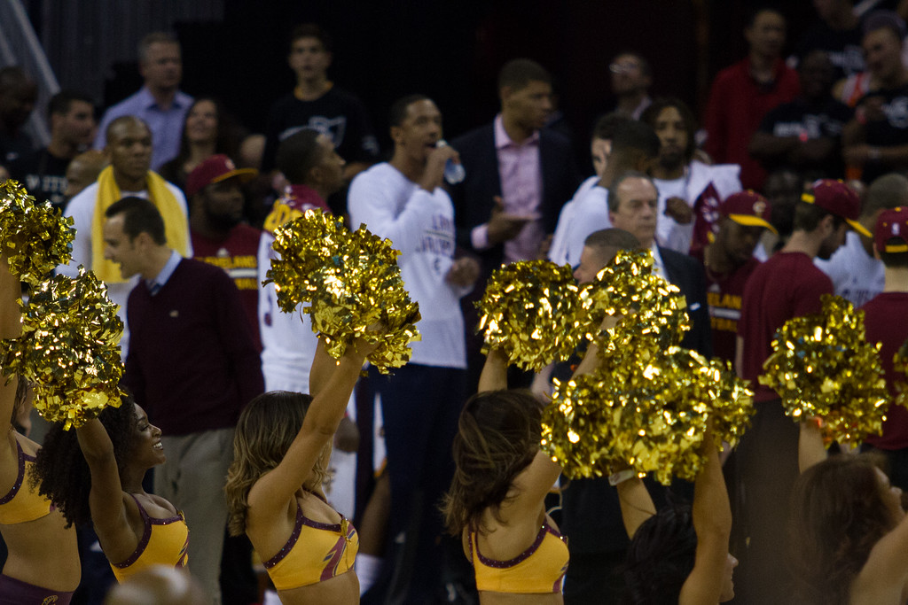 . The Cavaliers Girls perform during game 4 of the NBA Finals against the Golden State Warriors at the Quicken Loans Arena on June 10, 2017.  The Cavs defeated the Warriors 137-116.