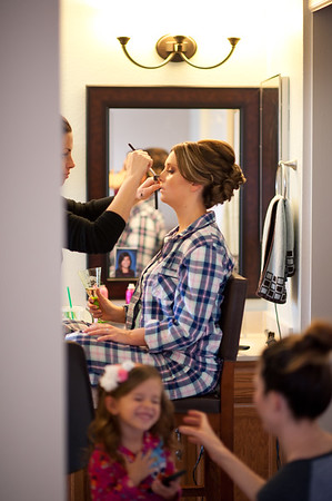 Mom/girls getting ready