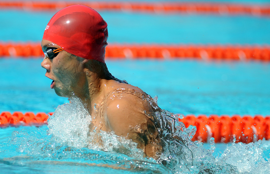 . Mark Keppel\'s Justin Chiu competes in the 200 yard medley relay during the CIF-SS Division II swim finals at Riverside City College on Saturday, May 11, 2013 in Riverside, Calif.  (Keith Birmingham Pasadena Star-News)