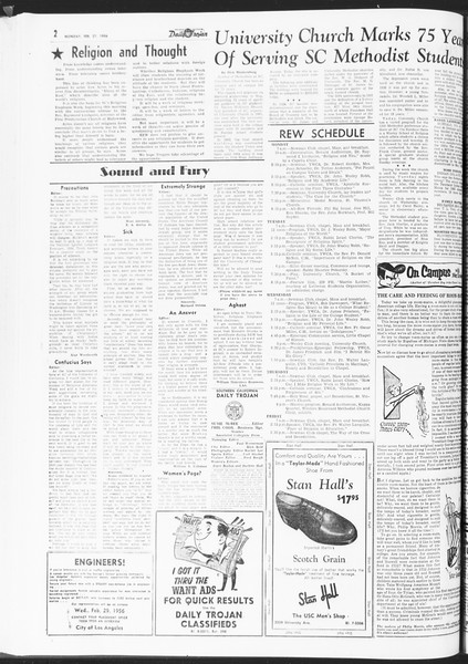 Daily Trojan, Vol. 47, No. 83, February 27, 1956