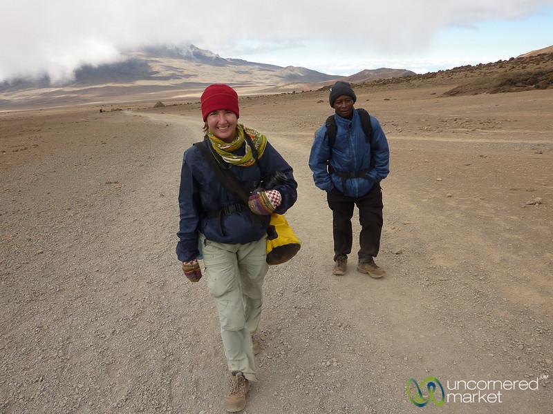 Audrey on Day 3 of Kilimanjaro Climb - Tanzania