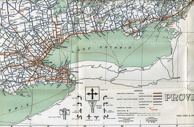 Ontario Official Highway Map 1926