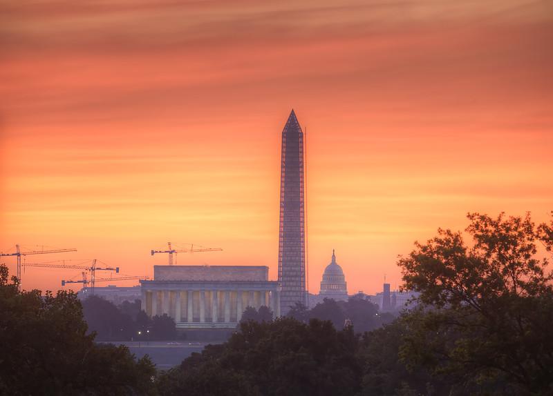 Monuments at Sunrise