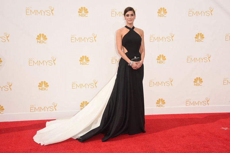 . Actress Lizzy Caplan attends the 66th Annual Primetime Emmy Awards held at Nokia Theatre L.A. Live on August 25, 2014 in Los Angeles, California.  (Photo by Jason Merritt/Getty Images)