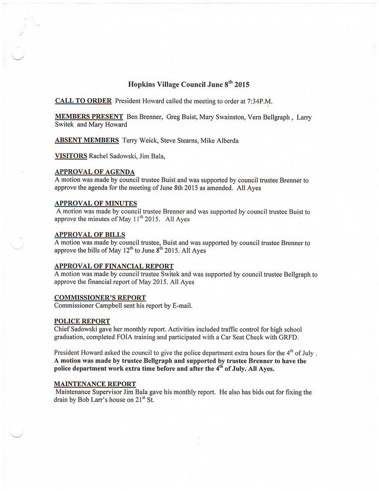 June 2015 Meeting Minutes pg 1