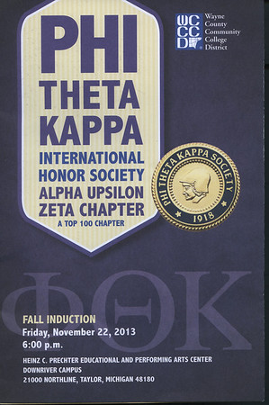 WCCCD , PHI THETA KAPPA, Fall Induction November 22, 2013